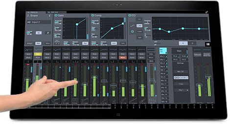 Photo of the UC Surface software included with the Presonus StudioLive RM32AI.