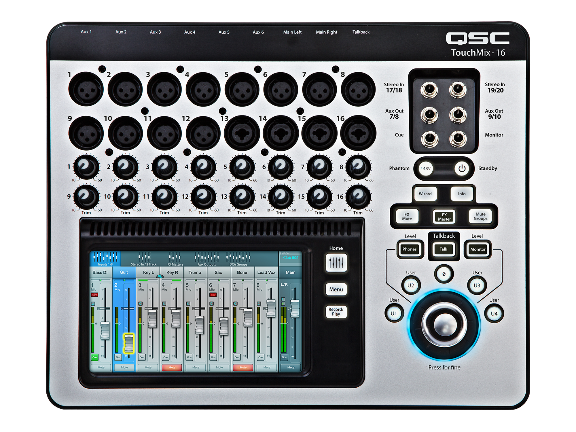 qsc touchmix 16 compact digital touchscreen mixer pro audio superstore. Black Bedroom Furniture Sets. Home Design Ideas