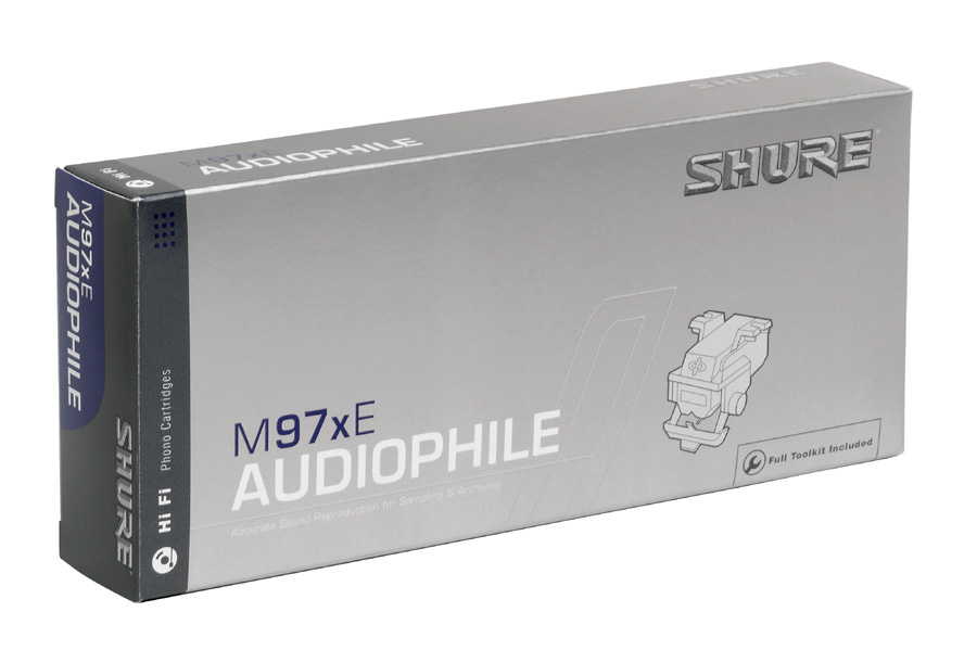 Photo of the Shure M97xE's box.