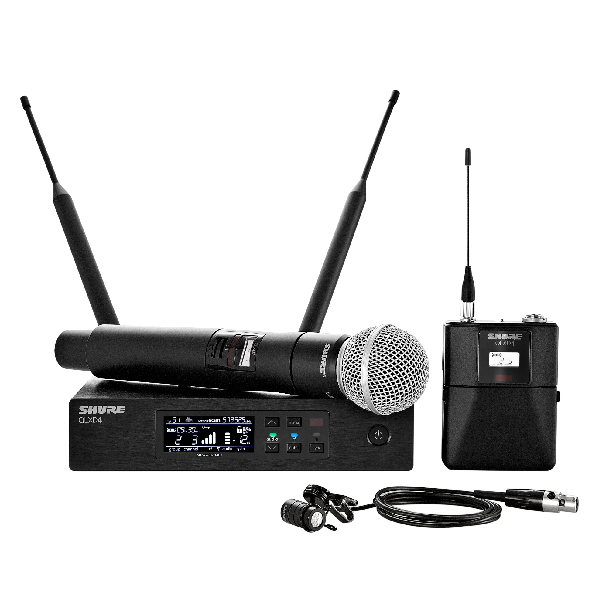 Shure Microphone System : Shure qlxd combo digital wireless microphone system