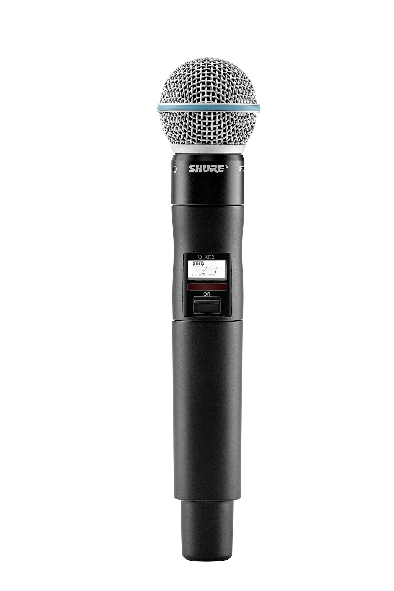 shure qlxd2 beta58a handheld wireless microphone transmitter pro audio superstore. Black Bedroom Furniture Sets. Home Design Ideas