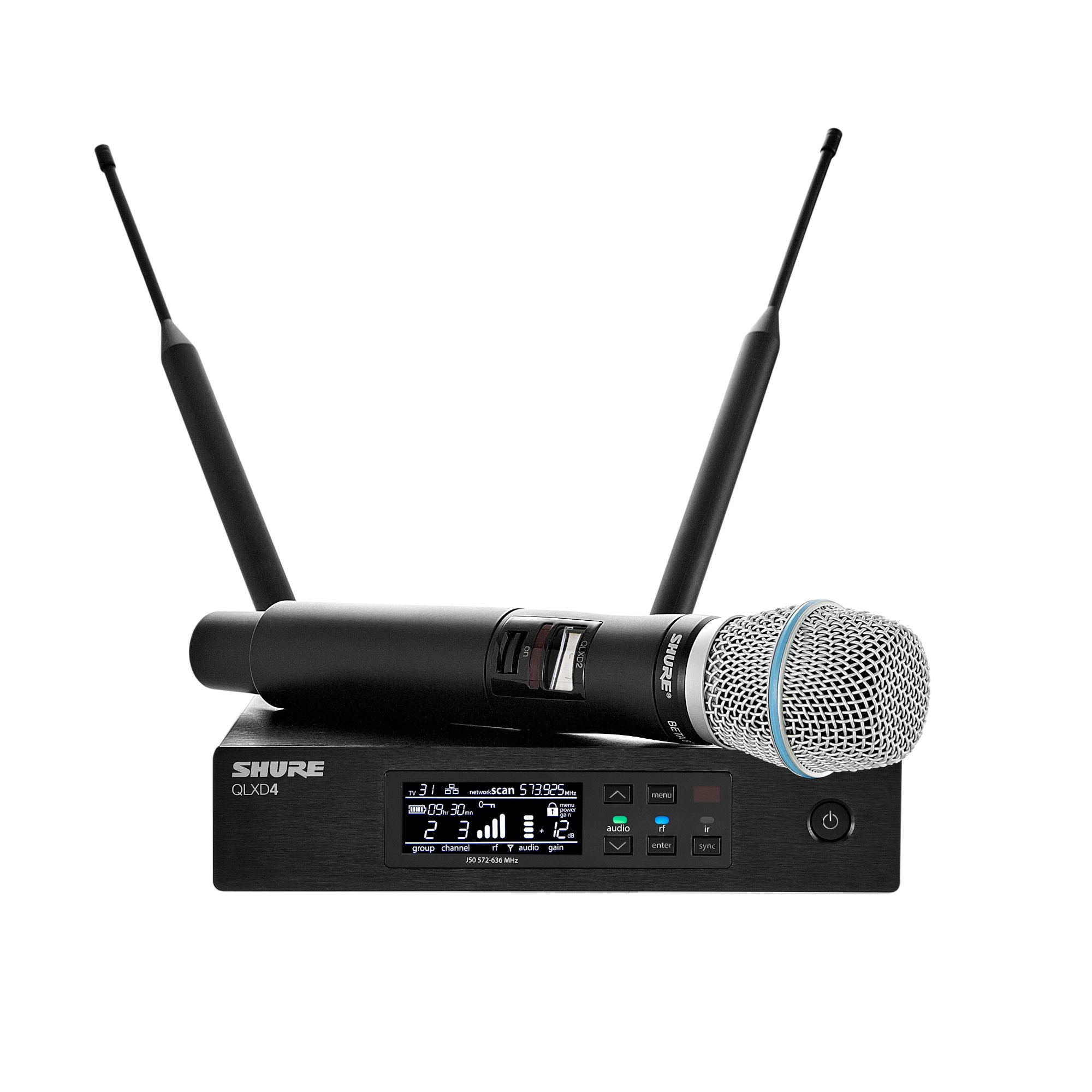 shure qlxd24 beta87 digital wireless handheld microphone system pro audio superstore. Black Bedroom Furniture Sets. Home Design Ideas