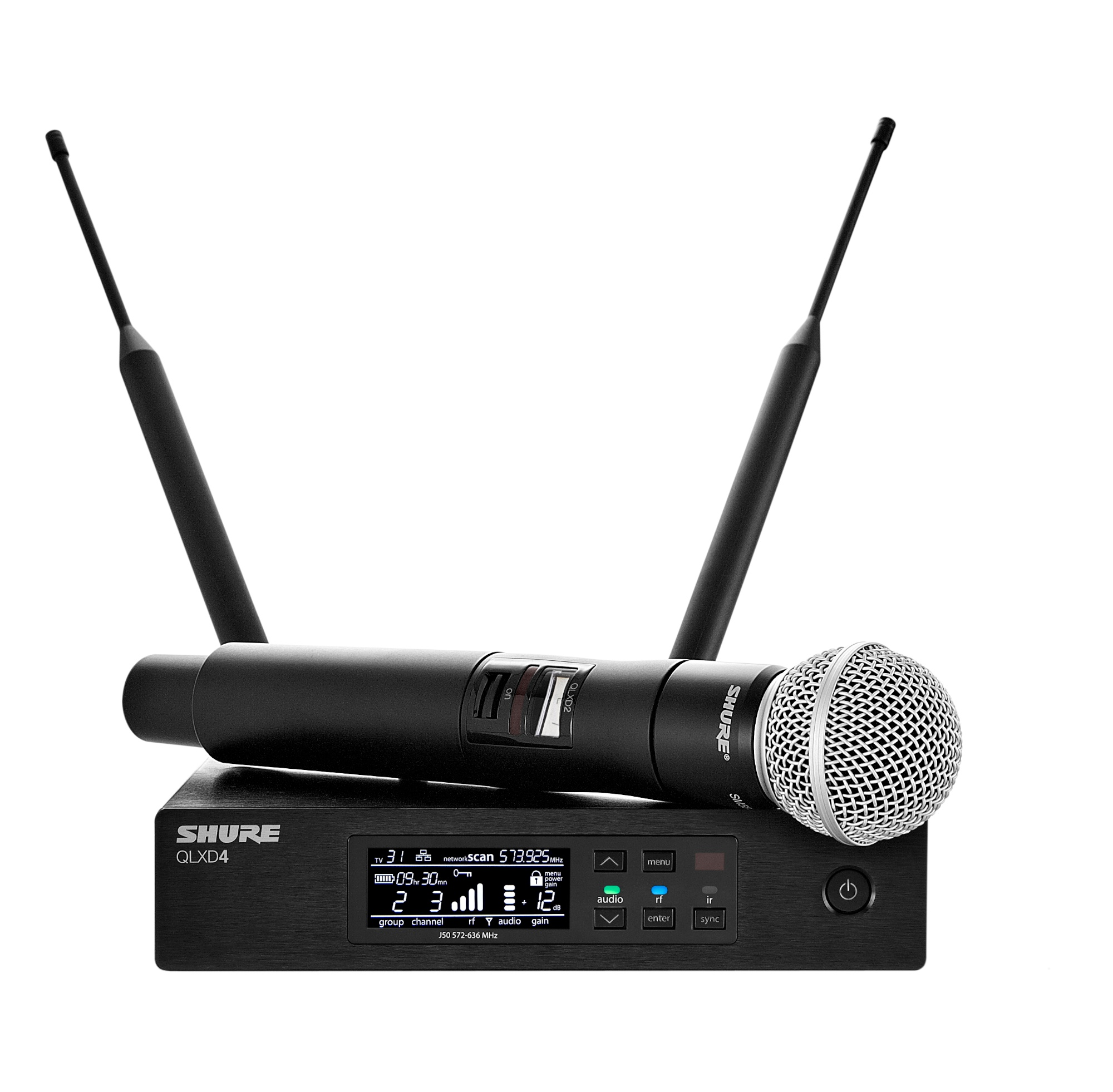 shure qlxd24 sm58 digital wireless handheld microphone system pro audio superstore. Black Bedroom Furniture Sets. Home Design Ideas