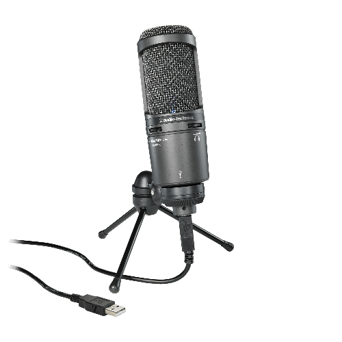 <h5>Audio-Technica AT2020USB+ Cardioid Condenser USB Microphone</h5>