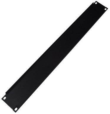 Lowell Manufacturing Rack Panel-Blank-2U, 18-Gauge Flanged Steel (Black)