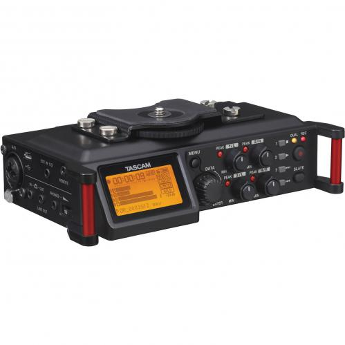 <h5>Tascam DR-70D 6-Input / 4-Track Multi-Track Field Recorder with Onboard Omni Microphones</h5>