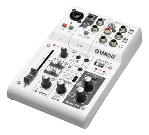 <h5>Yamaha AG03 3-Channel Mixer & USB Audio Interface</h5>