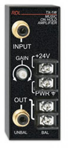 <h5>RDL TX-1W Music on Hold Amplifier</h5>