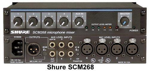 <h5>Shure SCM268 4-Channel Microphone Mixer</h5>
