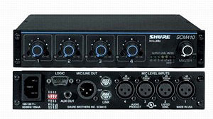 <h5>Shure SCM410 4 Channel Automatic Mixer</h5>