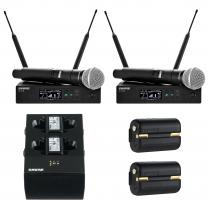 Shure QLXD 2-Channel Handheld Wireless Mic System Package