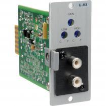 TOA U-03R Unbalanced Line Level Input Modules (Dual RCA)