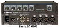 Shure SCM268 4-Channel Microphone Mixer