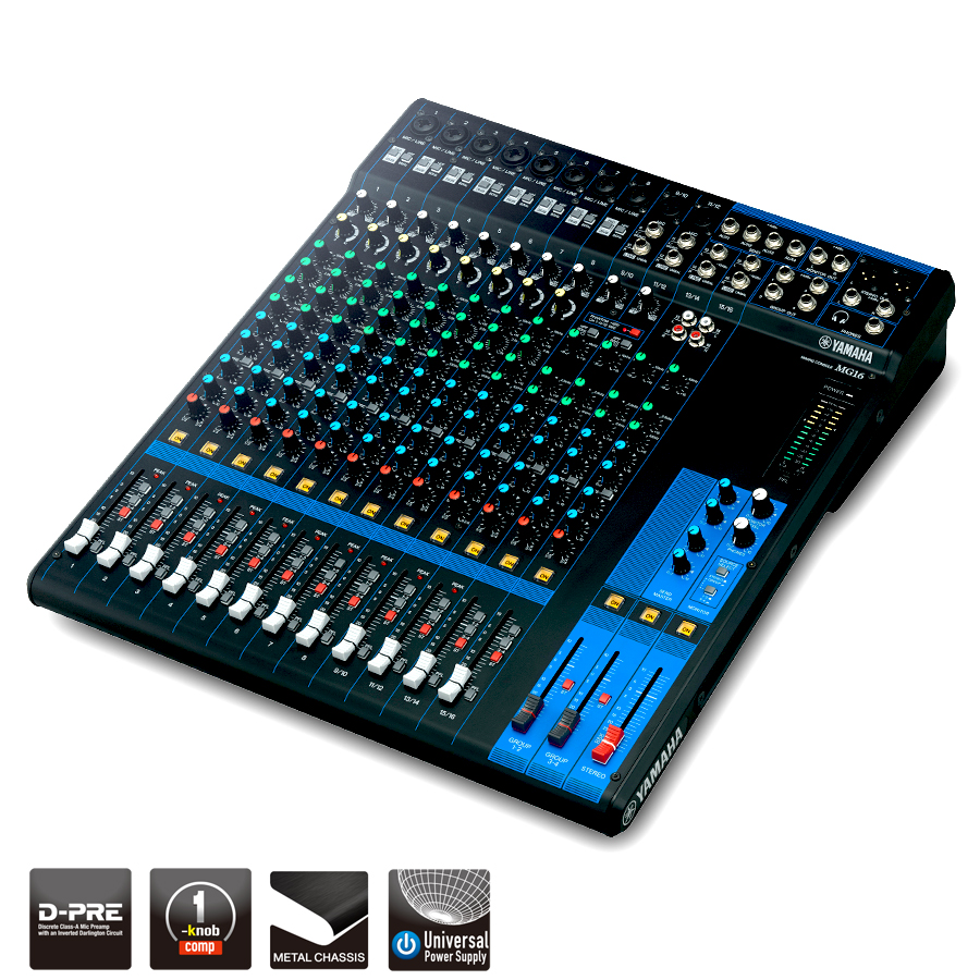 Yamaha Mg16 Rugged 16 Channel Analog Mixing Console Pro