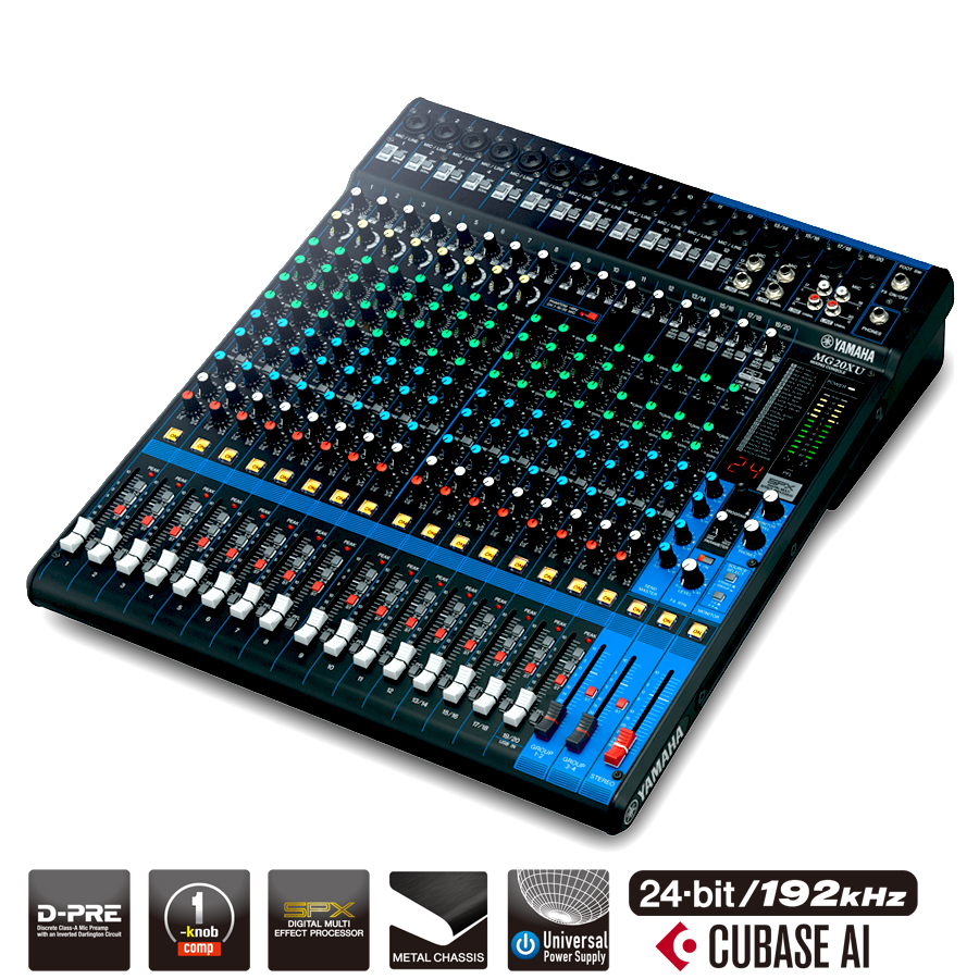 yamaha mg20xu 20 channel mixer w usb output fx pro audio superstore. Black Bedroom Furniture Sets. Home Design Ideas